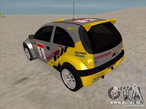 Opel Rally Car für GTA San Andreas zurück linke Ansicht
