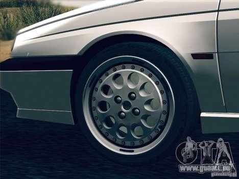 Alfa Romeo 155 1992 pour GTA San Andreas vue de dessous