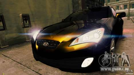 Hyundai Genesis Coupe 2010 für GTA 4 hinten links Ansicht