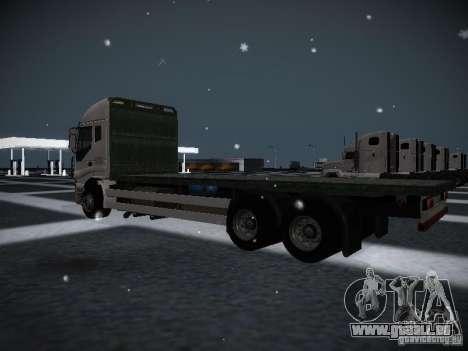 Iveco Stralis Long Truck für GTA San Andreas zurück linke Ansicht