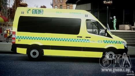 Mercedes-Benz Sprinter PK731 Ambulance [ELS] für GTA 4 Innenansicht