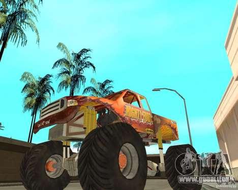 Mighty Foot pour GTA San Andreas sur la vue arrière gauche