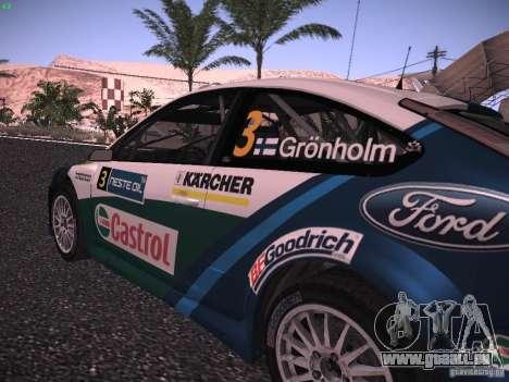 Ford Focus RS WRC 2006 für GTA San Andreas Rückansicht