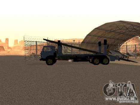 Camion KAMAZ pour GTA San Andreas sur la vue arrière gauche