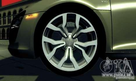 Audi R8 5.2 FSI Quattro für GTA San Andreas rechten Ansicht