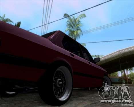 BMW 5-er E28 pour GTA San Andreas vue intérieure