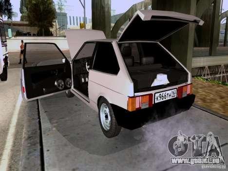 VAZ 2108 Bach für GTA San Andreas Rückansicht