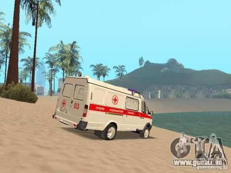Ambulance Gazelle 2705 pour GTA San Andreas vue de droite