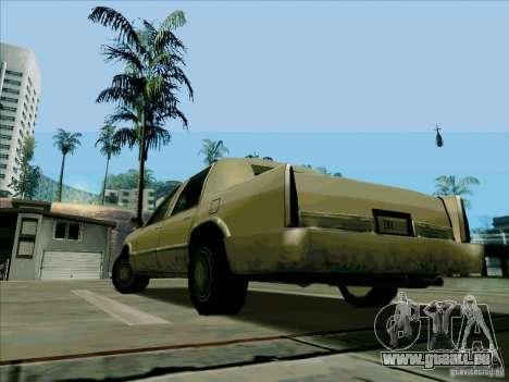Une Limousine courte pour GTA San Andreas sur la vue arrière gauche