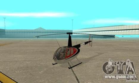Robinson R44 Raven II NC 1.0 2 la peau pour GTA San Andreas laissé vue
