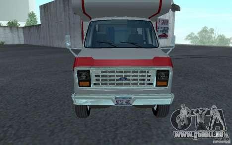 1986 Ford Econoline pour GTA San Andreas laissé vue