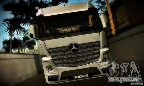 Mercedes-Benz Actros 2012 für GTA San Andreas Rückansicht