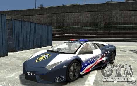 Lamborghini Reventon Police Stinger Version pour GTA 4