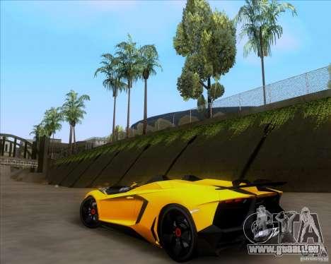 Lamborghini Aventador J TT Black Revel für GTA San Andreas Rückansicht