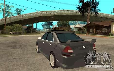TOYOTA MARK II RY pour GTA San Andreas sur la vue arrière gauche