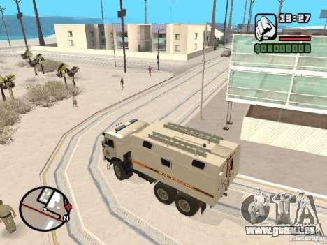 KAMAZ MES version 2 pour GTA San Andreas sur la vue arrière gauche