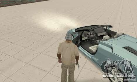 Lamborghini Gallardo Spyder für GTA San Andreas Rückansicht