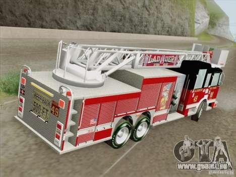 Pierce Rear Mount SFFD Ladder 49 pour GTA San Andreas moteur