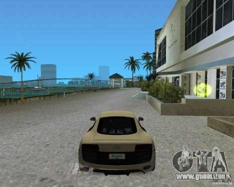 Audi R8 5.2 Fsi pour GTA Vice City sur la vue arrière gauche