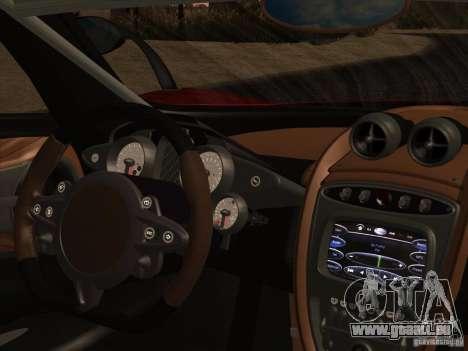 Pagani Huayra 2012 für GTA San Andreas Seitenansicht