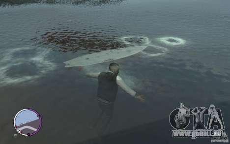 Surfbrett für GTA 4 linke Ansicht