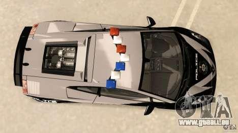 Lamborghini Gallardo Police pour une vue GTA Vice City de la droite