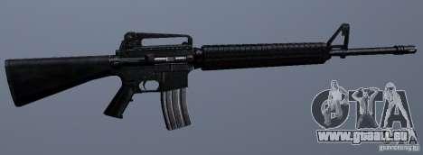 M16A4 pour GTA San Andreas quatrième écran