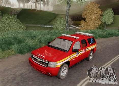 Chevrolet Suburban EMS Supervisor 862 pour GTA San Andreas sur la vue arrière gauche