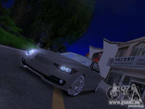 BMW 335i F30 Coupe pour GTA San Andreas vue arrière