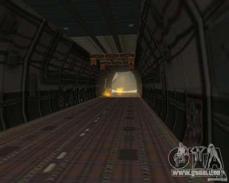 L'an-225 Mriya pour GTA San Andreas vue de droite