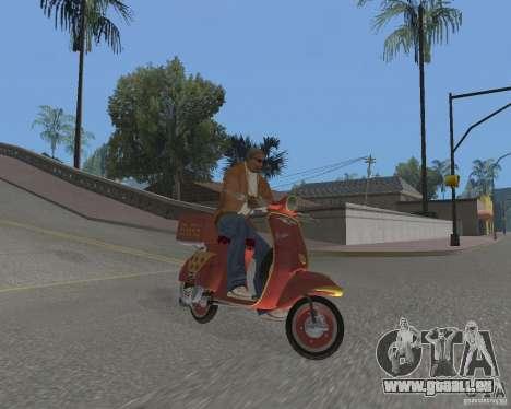 Vespa N-50 Pizzaboy pour GTA San Andreas vue de droite