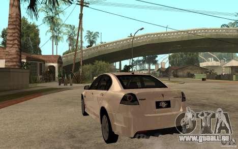 Pontiac G8 GXP 2009 pour GTA San Andreas sur la vue arrière gauche