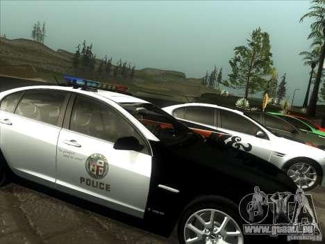 Pontiac G8 Police für GTA San Andreas zurück linke Ansicht