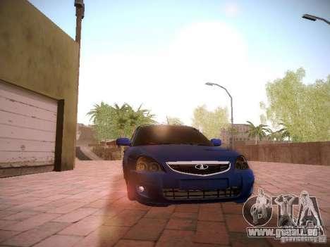 VAZ Lada 2170 Priora pour GTA San Andreas vue intérieure