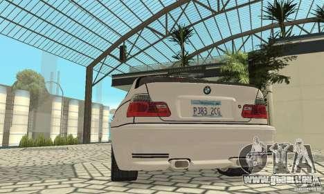 BMW M3 Tunable pour GTA San Andreas moteur