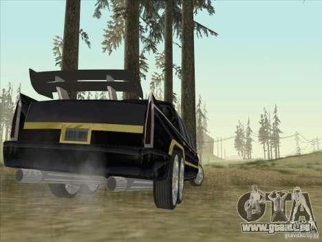 Limousine pour GTA San Andreas sur la vue arrière gauche