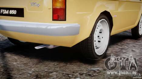 Fiat 126p 1976 pour GTA 4 vue de dessus