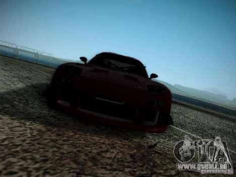 Mazda RX7 Drift pour GTA San Andreas vue intérieure