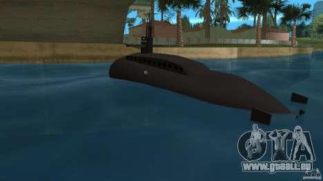 Vice City Submarine without face pour GTA Vice City sur la vue arrière gauche