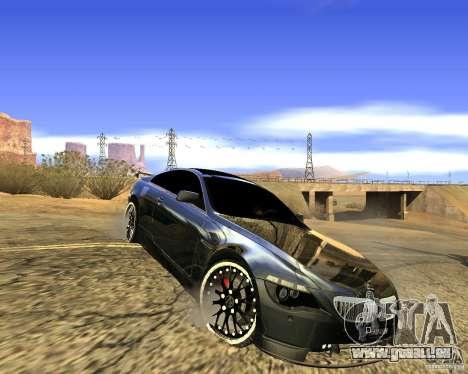 BMW M6 für GTA San Andreas zurück linke Ansicht
