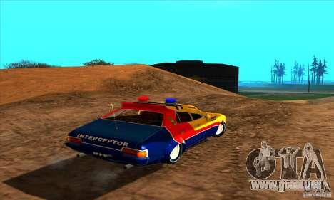 Ford Falcon 351 GT Interceptor Mad Max pour GTA San Andreas laissé vue