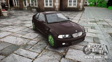 BMW M3 e46 2005 pour GTA 4 Vue arrière