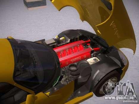 Dodge Viper 1996 für GTA San Andreas Rückansicht