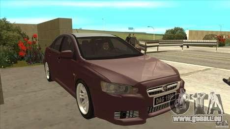 Proton Inspira v1 pour GTA San Andreas vue arrière