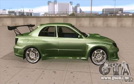 Subaru Impreza STI pour GTA San Andreas vue intérieure