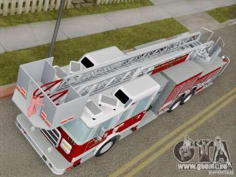 Pierce Aerials Platform. SFFD Ladder 15 pour GTA San Andreas vue intérieure