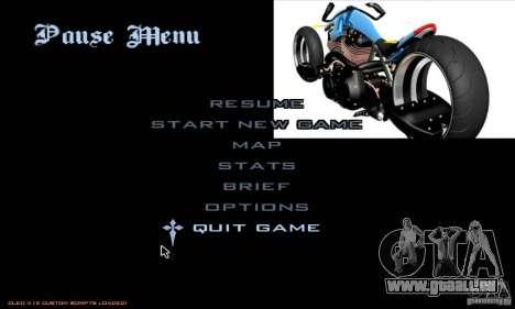 Laden-Bildschirme und Menüs im Stil von Motorrad für GTA San Andreas her Screenshot