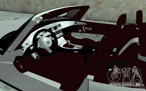 BMW Z8 für GTA San Andreas Innenansicht
