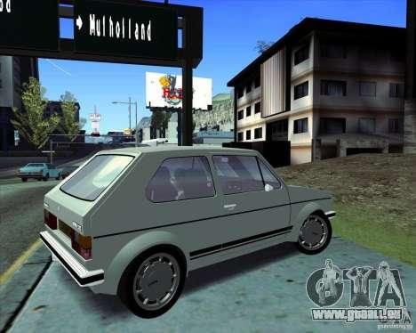 Volkswagen Golf MK 1 GTI für GTA San Andreas zurück linke Ansicht