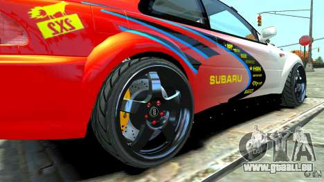 Subaru Impreza 22B STI 1999 pour GTA 4 est un droit